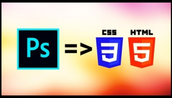 Learn PSD to HTML : Responsive Portfolio Website Design