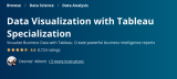 Data Visualization with Tableau Specialization